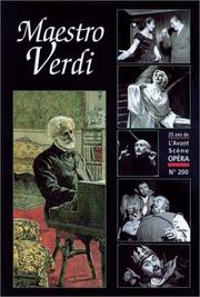Cover of: Maestro verdi