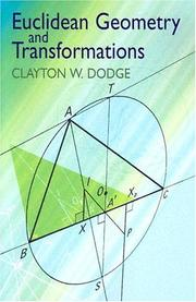 Cover of: Euclidean Geometry and Transformations