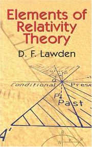 Cover of: Elements of Relativity Theory