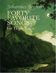 Cover of: Forty Favorite Songs for High Voice