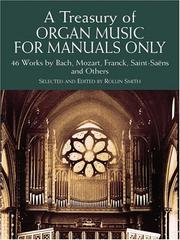 Cover of: A Treasury of Organ Music for Manuals Only