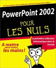 Cover of: PowerPoint 2002 pour les nuls