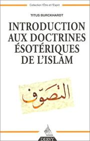 Cover of: Introduction aux doctrines ésotériques de l'Islam