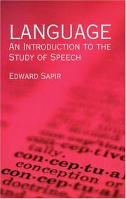 Cover of: Language | Edward Sapir