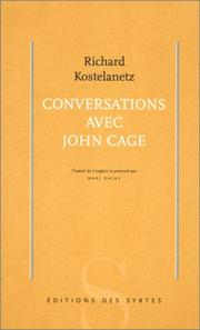 Cover of: Conversations avec John Cage