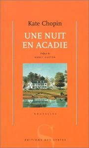 Cover of: Une nuit en Acadie