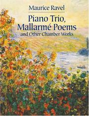 Cover of: Piano Trio, Mallarme Poems and Other Chamber Works