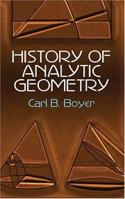Cover of: History of analytic geometry