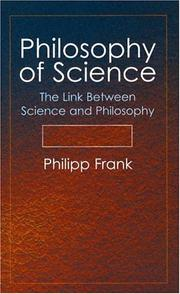 Cover of: Philosophy of science