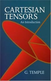 Cover of: Cartesian Tensors | G. Temple