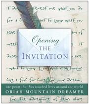 Cover of: Opening The Invitation | Oriah