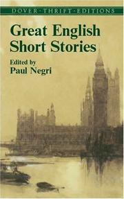 Cover of: Great English short stories | Paul Negri