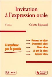 Cover of: Invitation à l'expression orale, 6e édition