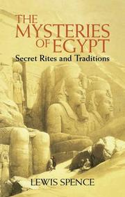 Cover of: The mysteries of Egypt | Lewis Spence