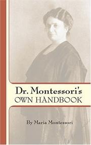 Cover of: Dr. Montessori's own handbook