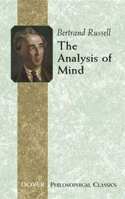 Cover of: analysis of mind | Bertrand Russell