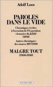Cover of: Paroles dans le vide - Malgré tout