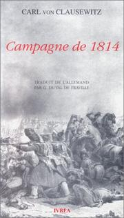 Cover of: Campagne de 1814