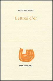 Cover of: Lettres d'or