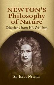 Cover of: Newton's philosophy of nature: selections from his writings