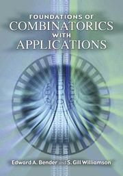 Cover of: Foundations of combinatorics with applications