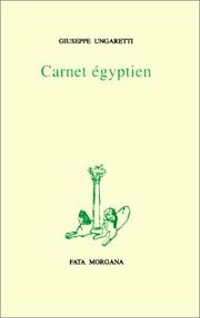 Cover of: Carnet égyptien