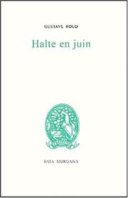 Cover of: Halte en juin