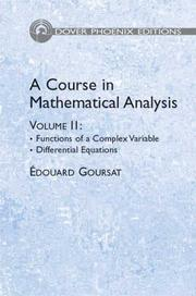 Cover of: A Course in Mathematical Analysis Volume 2