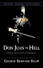 Cover of: Don Juan in hell: from Man and superman