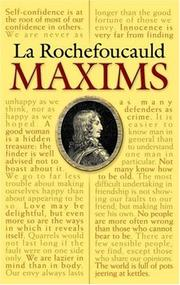 Cover of: La Rochefoucauld Maxims