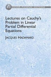 Cover of: Lectures on Cauchy's problem in linear partial differential equations