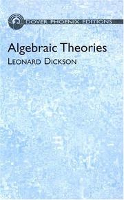 Cover of: Modern algebraic theories