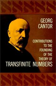 Cover of: Contributions to the founding of the theory of transfinite numbers
