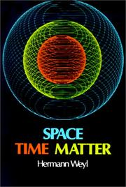 Cover of: Space, Time, Matter