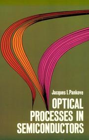 Cover of: Optical processes in semiconductors
