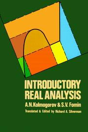 Cover of: Introductory real analysis