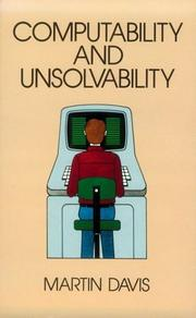 Cover of: Computability and Unsolvability