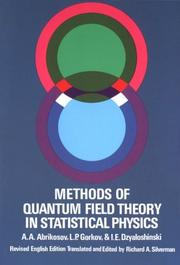 Cover of: Methods of quantum field theory in statistical physics