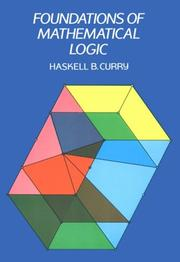 Cover of: Foundations of mathematical logic