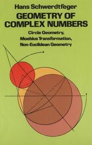 Geometry of complex numbers by Hans Schwerdtfeger
