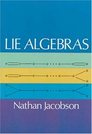Cover of: Lie algebras