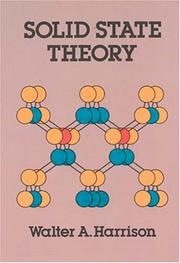 Cover of: Solid state theory