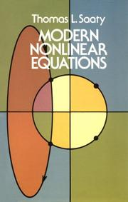 Cover of: Modern nonlinear equations