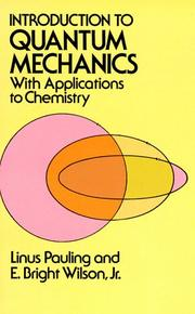 Cover of: Introduction to quantum mechanics: with applications to chemistry
