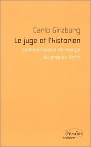 Cover of: Le Juge et l'Historien