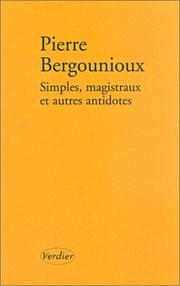 Cover of: Simple magistraux et autres antidotes