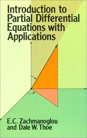 Cover of: Introduction to partial differential equations with applications