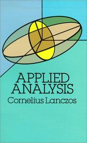 Cover of: Applied analysis