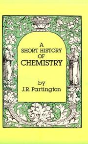 Cover of: A short history of chemistry