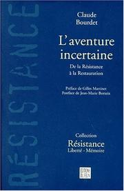 Cover of: L' aventure incertaine